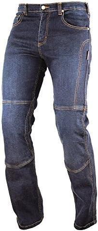 Pantalon Jeans Denim Renforts Protections CE Coton 100/% Homme Sport bleu 34