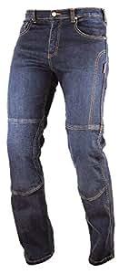A-pro Pantalones de kevlar para moto CE, protección, color azul, talla 34, estilo vaquero