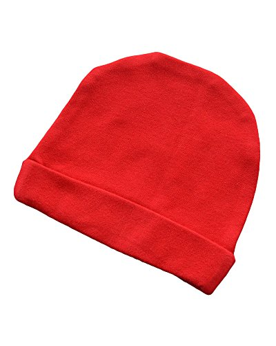 Monag Interlock Baby Cap (Newborn, Red)