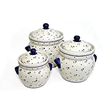Polish Pottery Country Meadow Large Canister Set
