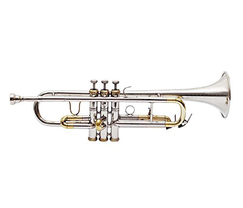 Trumpet Brand New Nickel Plated Bb With Free Bag + Mouth piece''Chopra''