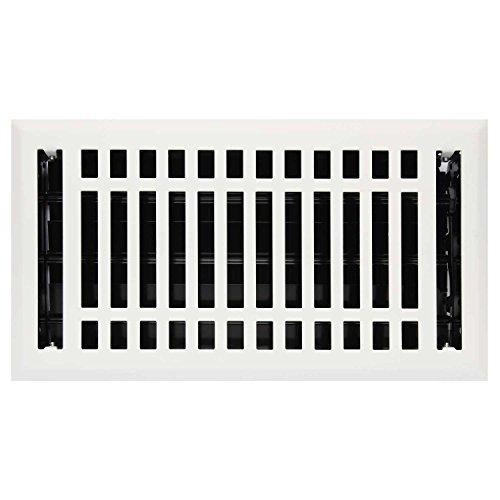 White Contemporary Floor Steel Register - 1