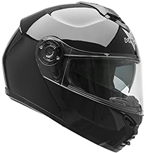 3. Vega Helmets 42000-015 VR1 Modular Motorcycle Helmet with Sunshield