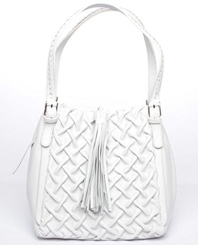Josephine Osthoff Handtaschen-Manufaktur, Borsa a tracolla donna bianco bianco one size