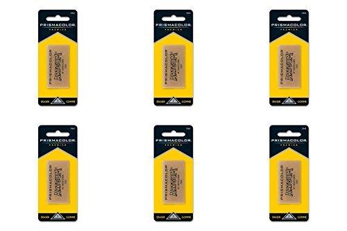 Sanford Design Art Gum Eraser, Artwork Eraser - Non-toxic - 1 / Pack - Brown, 6 Packs by Prismacolor