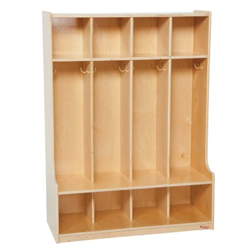 Section Four (Wood Designs WD51004 Child's Four-Section Bench-Seat Locker, 49 x 36 x 15