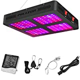 Phlizon Newest 1200W LED Plant Grow Light,with Thermometer Humidity Monitor,with Adjustable Rope,Full Spectrum