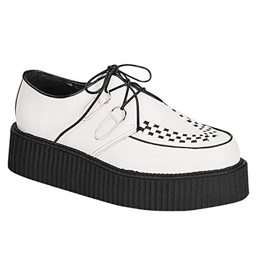 Demonia Men's Creeper402 Sneakers,White,5 M