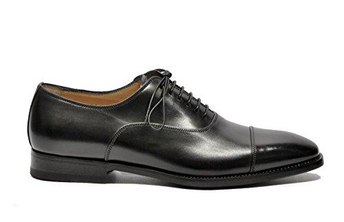 Santoni Men's MCDUP6981JB1VVINN01 Black Leather Lace-Up
