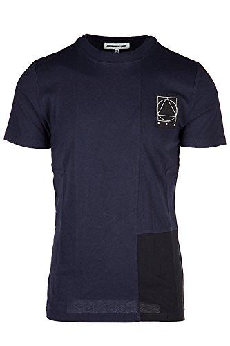 McQ Alexander McQueen Men's Short Sleeve t-Shirt Crew Neckline Jumper blu US Size S (US S) 467152 RIT27 4244