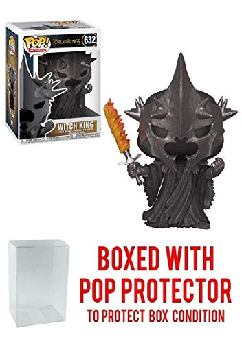 Funko Witch King: Lord of The Rings x POP! Movies Vinyl Figure & 1 POP! Compatible PET Plastic Graphical Protector Bundle [#632 / 33251 - - Rings The Witch Lord Of King The