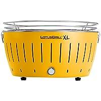 Lotusgrill Lotusgrill 435 XL klein Edelstahl Stahl Kunststoff gelb Camping Balkon Picknick ✔ rund ✔ tragbar rauchfrei ✔ Grillen mit Holzkohle ✔ für den Tisch