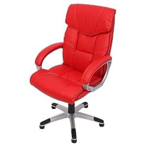 Homy - Silla de Oficina Ejecutiva M61, respaldo alto, color rojo