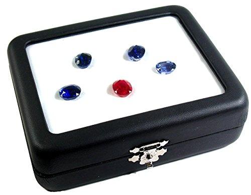 TOP GLASS GEMSTONE GEM DISPLAY BOX SIZE 9x11 CM (3.5X4.3 INCH) COIN DIAMOND JEWELRY