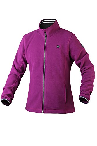 Pau1Hami1ton PJ-06 Women's Workwear Outdoor Thermal Mountain Full-Zip Active Fleece Heated Jacket Use Your Own 5v/2a(Power Bank) (XL,Purple) ()