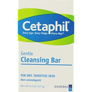 Cetaphil Gentle Cleansing Bar, Hypoallergenic, 4.5 Ounce (Pack of 6)