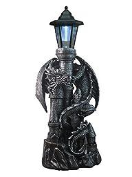 ih casa décor DW-41569 Resin Dragon with Lantern
