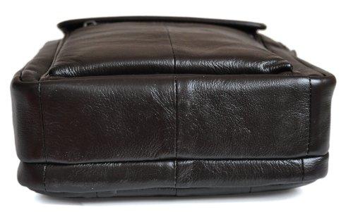 rangements amovible Marron Cuir Sacoche main ou Porté Homme Nombreux de bandoulière épaule Vachette PPx7wYq
