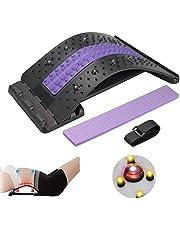 Karanice Back Stretcher Rugstretcher met magneetveldtherapie, rugmassage voor onder de bovenste lumbale wervelkolom, vier in hoogte verstelbare rugstretcher voor houdingscorrectie