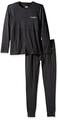 Lucky Bums Kid's Base Layer Long Sleeve Crewneck and Pants Set, Large (Armor Body Suits Ninja)
