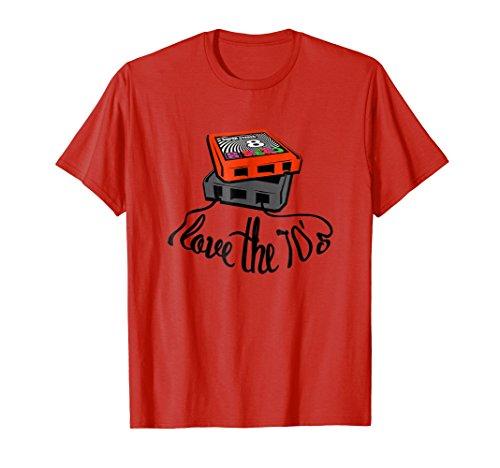 eda14a83a1 Mens I Love The 70s T Shirt Retro 8 Track Tape Jersey Medium Red