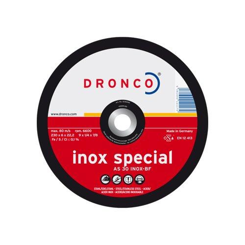 Dronco AS30INOX-125-6 Discos de Desbaste, As 30 Inox Special ...