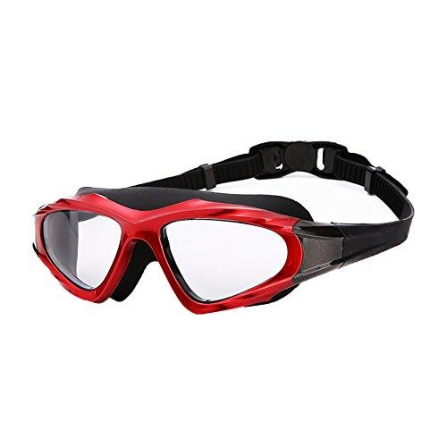 Opcional E Plano De Gafas Espejo QY Natación Antivaho Unisex Impermeable Multicolor HD Red a14Owqw