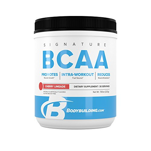 BodyBuilding.Com Signature BCAA Powder | Essential Amino Acids | Nutrition Supplement | Promote Muscle Growth and Recovery | 30 Servings, Cherry Limeade