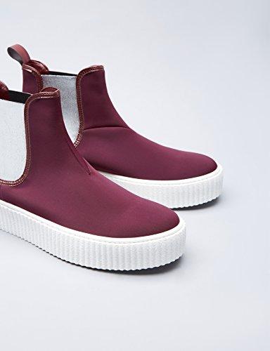 Find Sneaker Donna bordeaux Plateau Con Rosso rrdwfqT