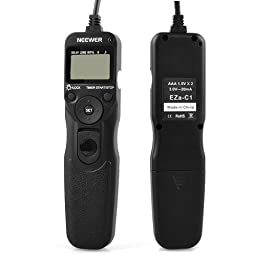 LCD Timer Shutter Release Remote Control Cord RS-60E3 EZA-C1 for Canon T4i and Other Cameras