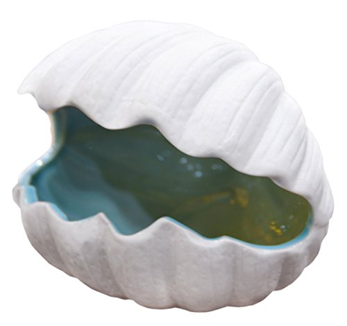 Decorative Multipurpose Nautical Theme Porcelain Seashell Design Tabletop Decoration, Trinket Organizer, Ashtray, Wedding/Party Centerpiece