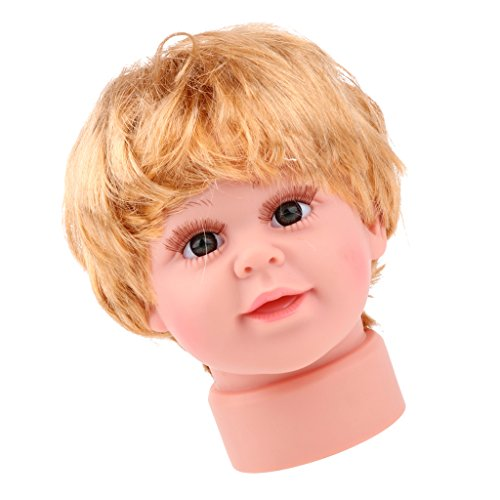 Homyl Lovely Realistic Baby Child Head Mannequin Head With Wig For Hat Cap Display