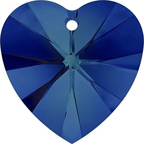 6228 Swarovski Pendant Xilion Heart Crystal Bermuda Blue | 14mm - Pack of 144 (Wholesale) | Small & Wholesale - Crystal Mm Bermuda 14