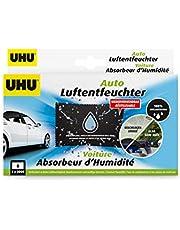 UHU 53495 Auto-luchtontvochtiger, herbruikbaar, tegen vochtproblemen in de auto, 300 g, zwart