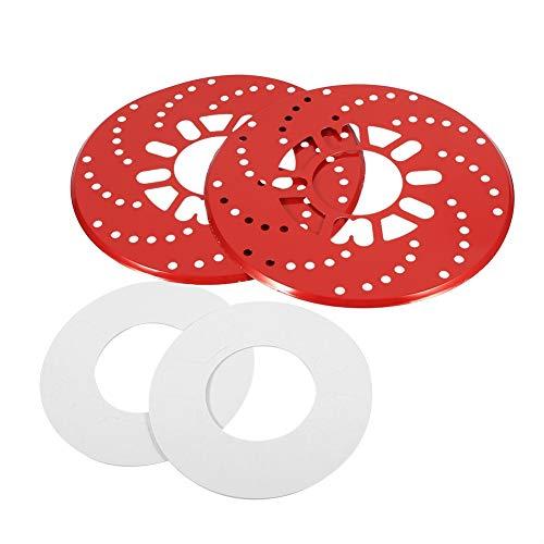 - Disc Brake Rotor Cover-1 Set Auto Aluminium Disc Brake Rotor Trim Decorative Covers Retrofit 26cm Red