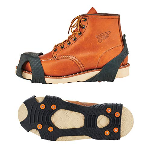 Ergodyne TREX 6300 Slip-On Traction Cleats for Snow and Ice with 8 Carbon Steel Spike Grips (Ice The Slip On)