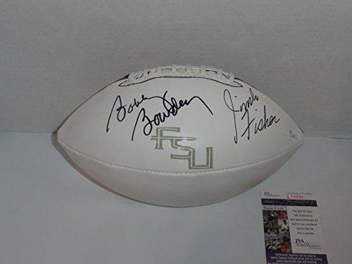Bobby Bowden & Jimbo Fisher Signed Football Florida St. Seminoles JSA COA Proof - Authentic Signed Autograph