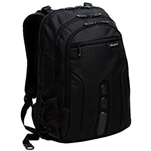 "Targus 15.6"" Spruce EcoSmart Backpack, Black/Green"