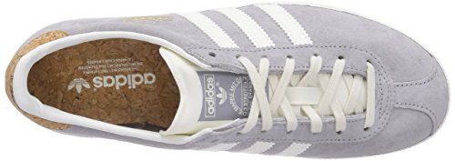 Adidas Gazelle Og - Zapatillas de deporte para mujer Gris (Mgh Solid Grey/Off White/Gold Met.)