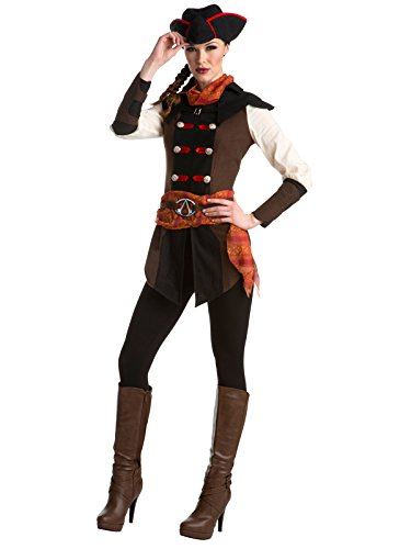 Palamon Women's Assassin's Creed Aveline Classic Costume, Brown, Small -