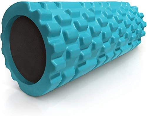 Aqua 321 STRONG Foam Roller RENEWED with 4K eBook Medium Density Deep Tissue Massager for Muscle Massage and Myofascial Trigger Point Release