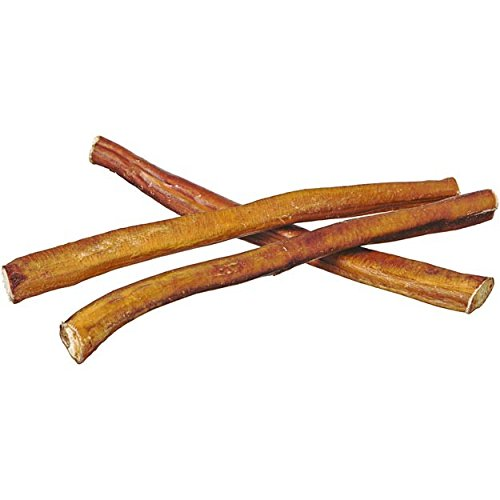 "12"" Straight Bully Sticks for Dogs [Medium Thickness] - Natural Low Odor Bulk Dog Dental Treats, Best Thick Pizzle Chew Stix, 12 inch, Chemical Free"