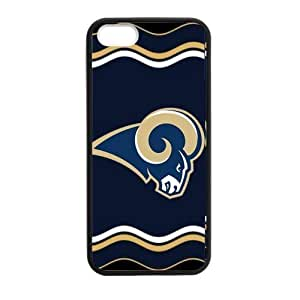 Alternating yellow and white Chevron St. Louis Rams Case For Iphone 4/4S Cover Shell (Laser Technology) by ruishername
