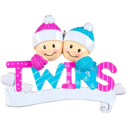 amazon com personalized twins christmas ornament same born babies