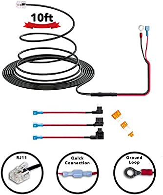 Amazon.com: Radar Detector 10ft Hardwire Kit for Escort Valentine One Uniden Beltronics | 3 Sizes of Tap a Fuse Included | Quick Connection Plug and Play: ...
