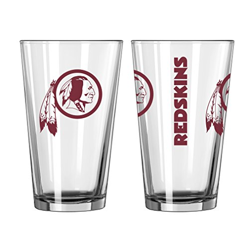 NFL Football Washington Redskins 16 Ounce Gameday Pint Glass