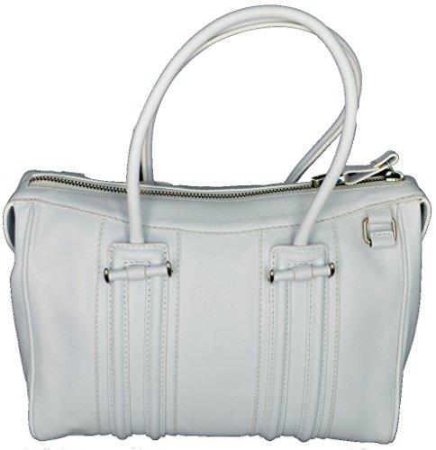 BORSA BAULETTO DONNA BORBONESE PELLE BIANCO WOMAN SMALL BAG WHITE 963775