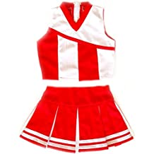 American Mini Kids Girl Cheerleader Uniform Costume Cosplay Karneval Outfit Red/White
