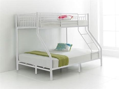 Letto A Castello Triple.Fzr Nuovissimo Triple Sleeper Letto A Castello In Metallo Bianco