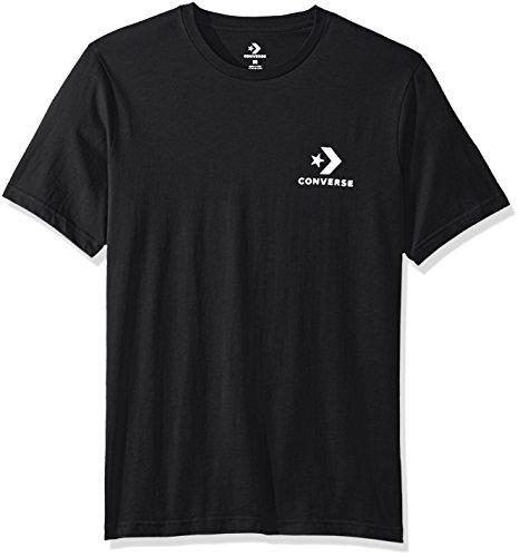 Converse Men's Star Chevron Small Logo Short Sleeve T-Shirt, Black, S -